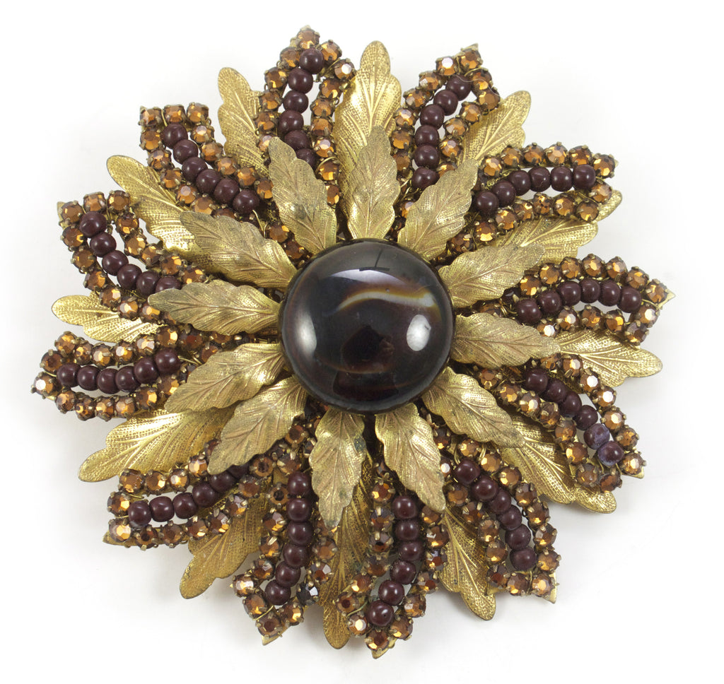 Miriam Haskell Floral Pin