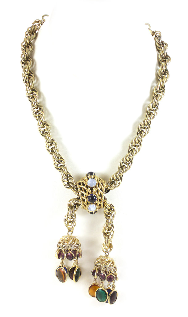 Schiaparelli Multi Cascade Necklace