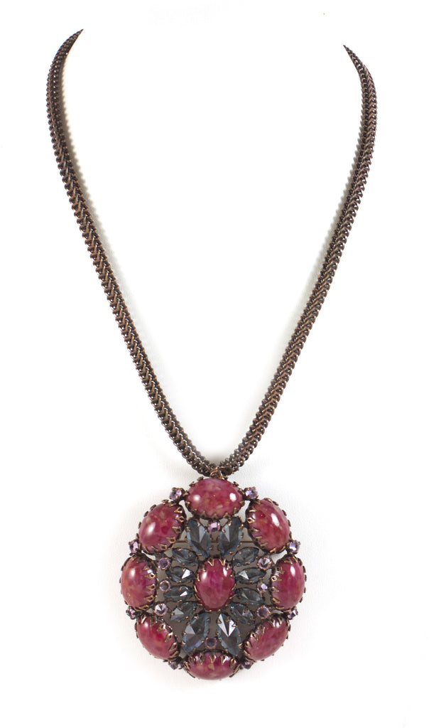 1950's Schreiner Brown Necklace
