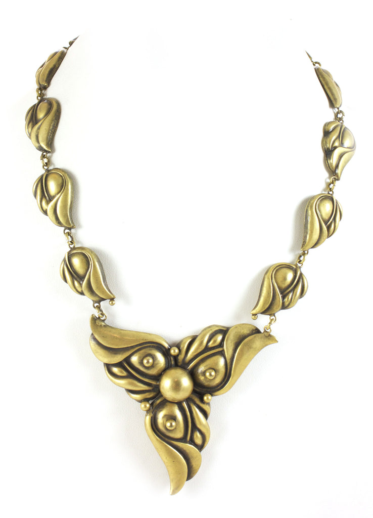 1940S JOSEFF OF HOLLYWOOD GOLD NECKLACE