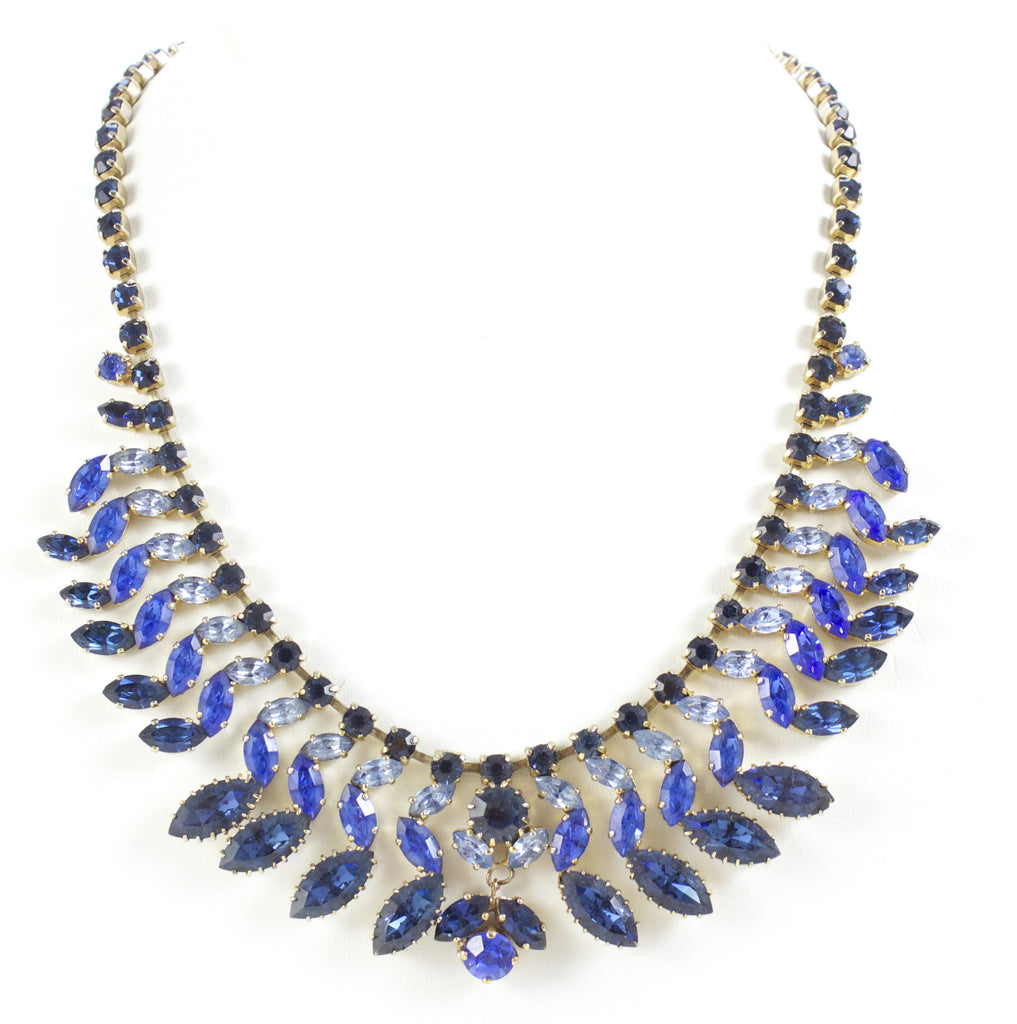 1950s Multi Blue Necklace