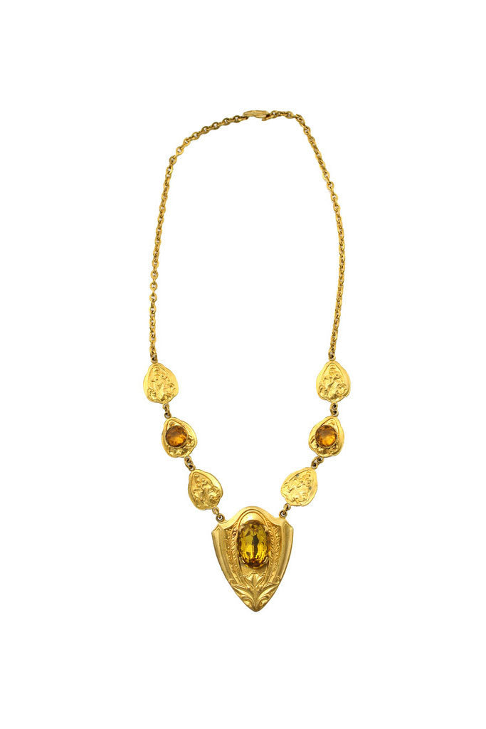 1920'S DECO GOLD NECKLACE