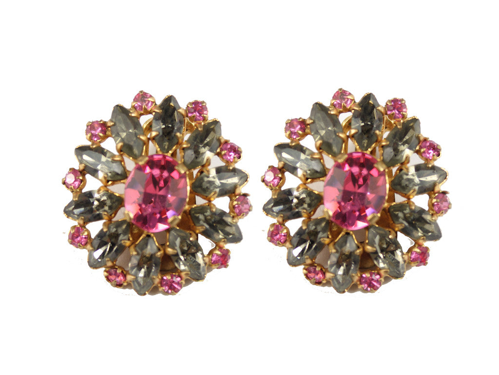 1950'S UNSIGNED PINK EARRINGS