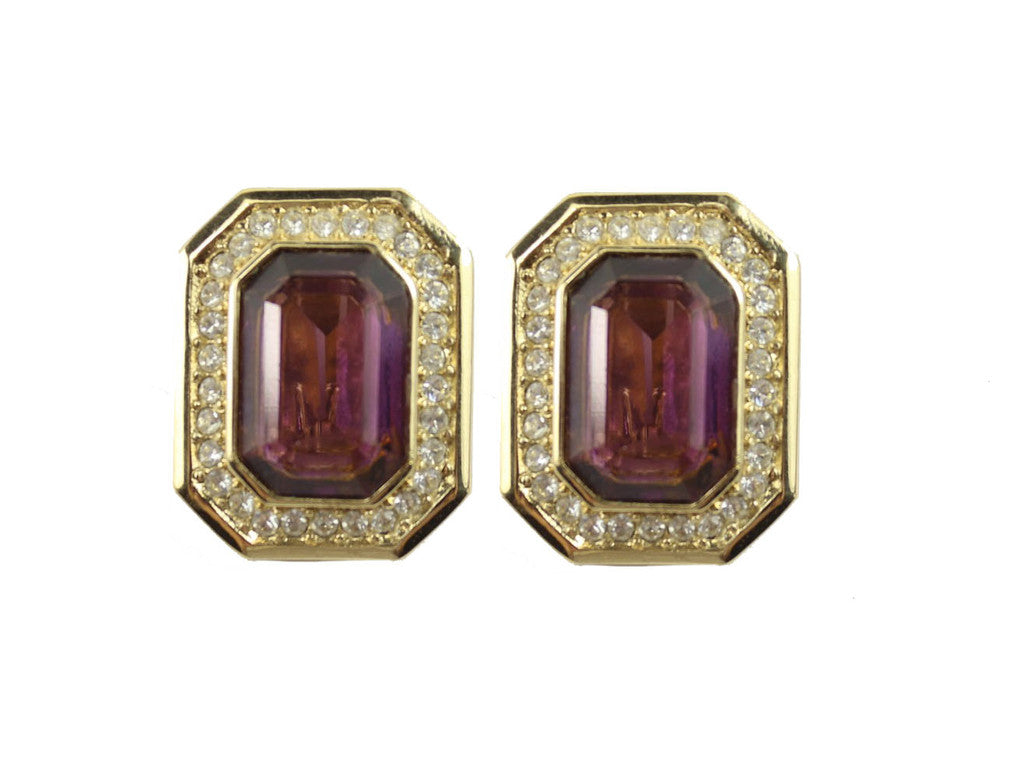 1960'S CHRISTIAN DIOR PURPLE EARRINGS