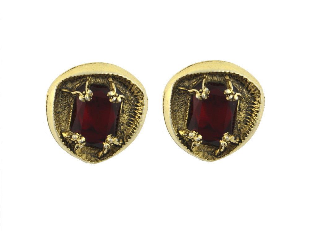 1950'S UNSIGNED RED EARRINGS