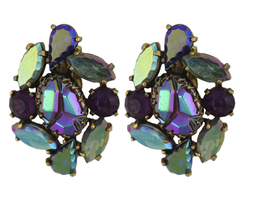SCHIAPARELLI PURPLE EARRINGS