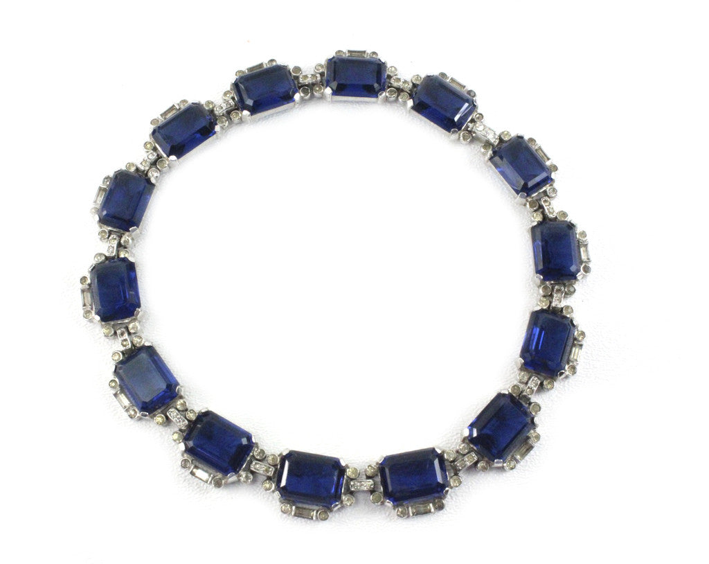 UNSIGNED BLUE NECKLACE