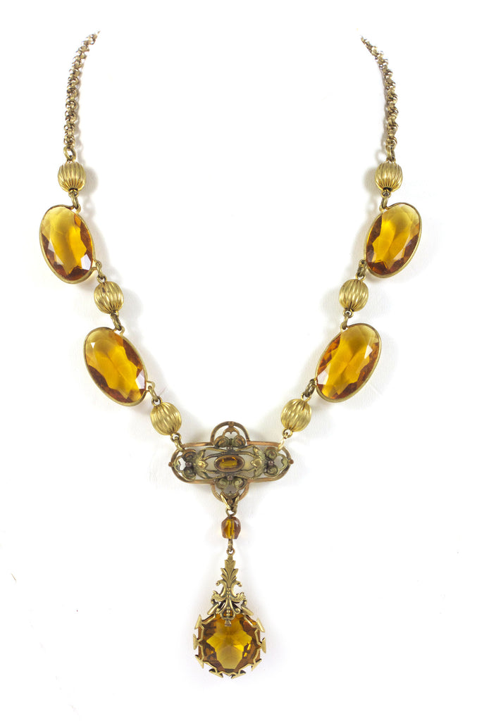 1930's Amber Necklace