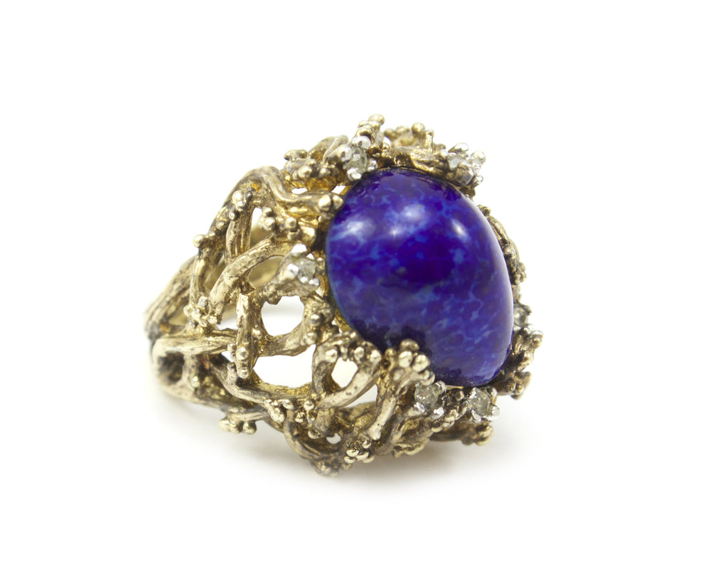 1950's faux lapis ring