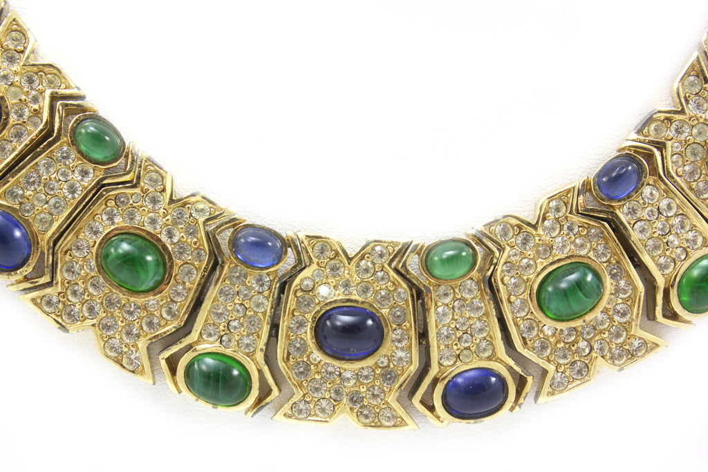 Ciner Emerald and Sapphire Collar