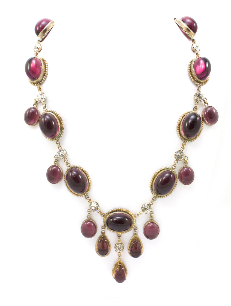 1950s amethyst drop necklace
