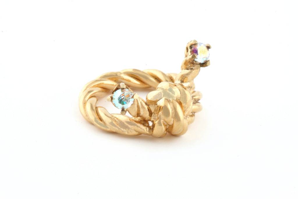 The Northern Lights Collection <br/> Golden Knot Ring