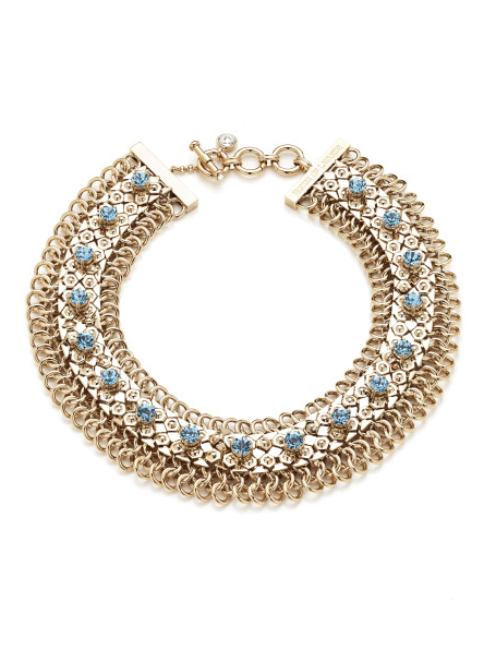 SEA GODDESS COLLECTION <br/> GOLDEN FISH COLLAR NECKLACE
