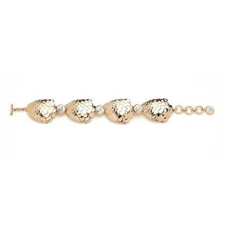 SEA GODDESS COLLECTION <br/> GOLDEN FISH LINK BRACELET