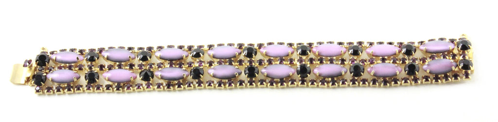 1950S JULIANA PURPLE AND BLACK BRACELET