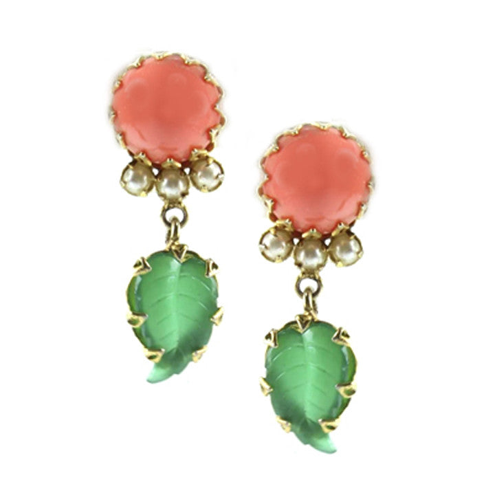 Schreiner Coral Earrings