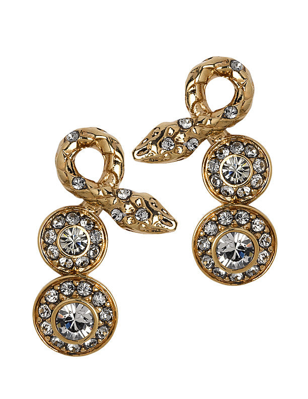 THE ORIENT EXPRESS COLLECTION<br/>SERPENT SNAKE SHORT EARRINGS
