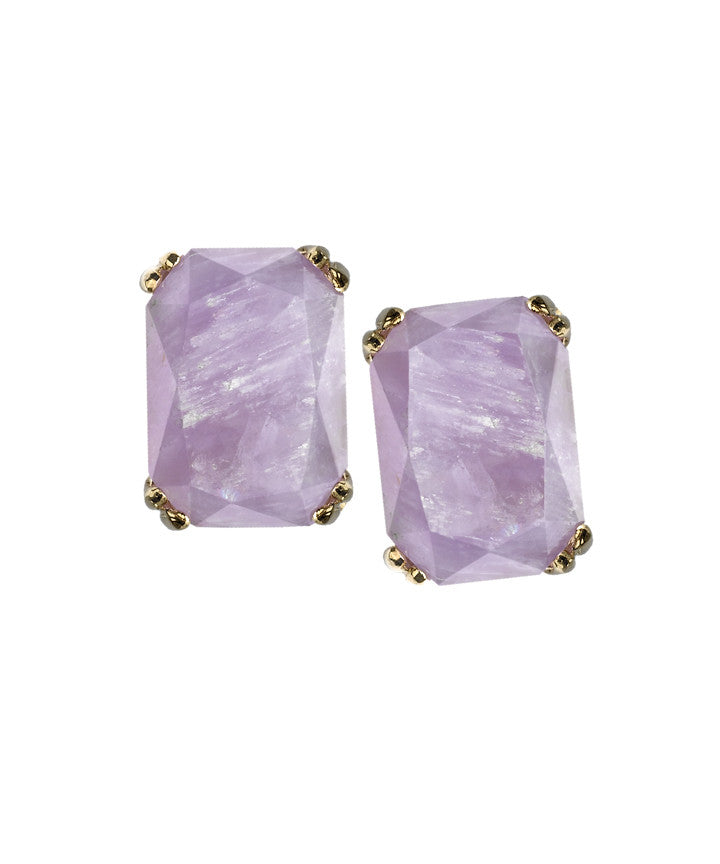 SEA GODDESS COLLECTION <br/> JEWELED KNOT AMETHYST STUD EARRINGS