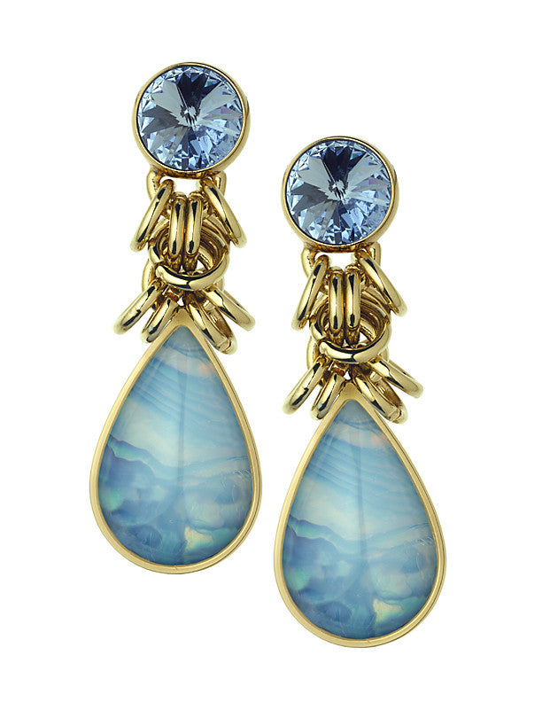 THE ORIENT EXPRESS COLLECTION<br/>PEARL OF SIBERIA HANGING EARRINGS