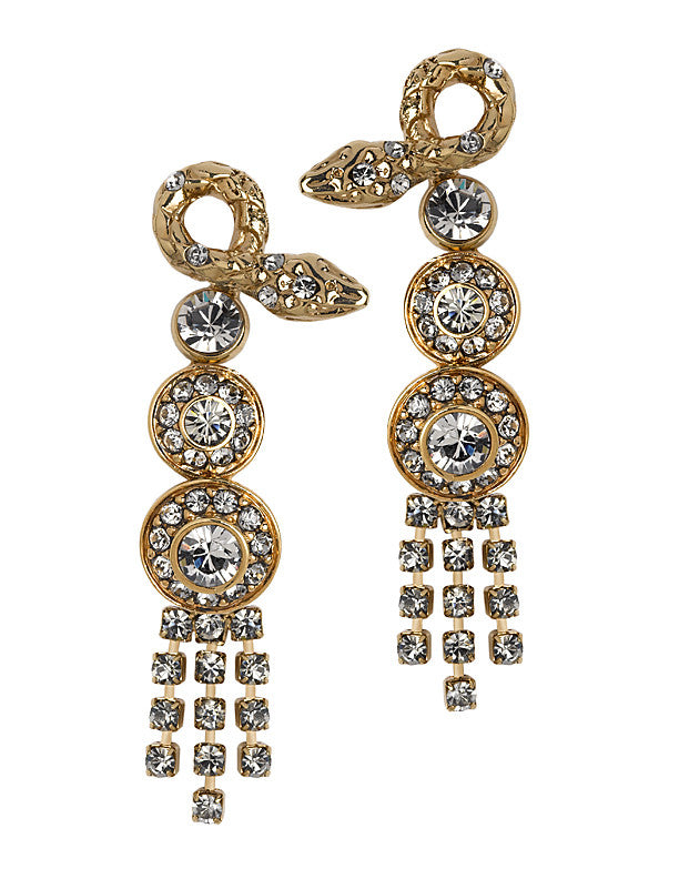 THE ORIENT EXPRESS COLLECTION<br/>SERPENT SNAKE LONG EARRINGS