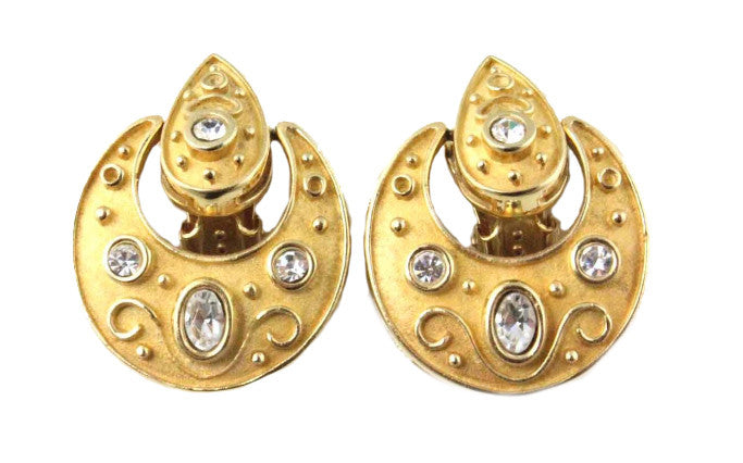 1950'S HOBE GOLD EARRINGS