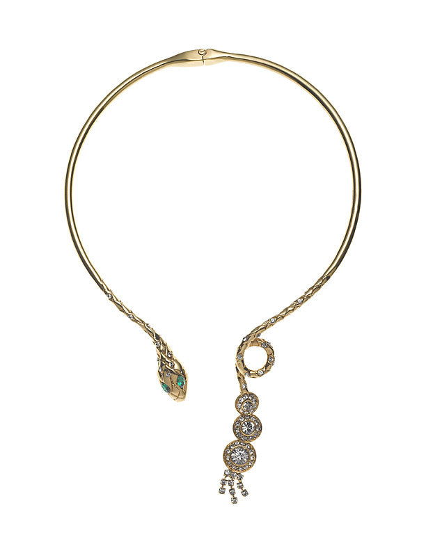 THE ORIENT EXPRESS COLLECTION<br/>SERPENT SNAKE CHOKER