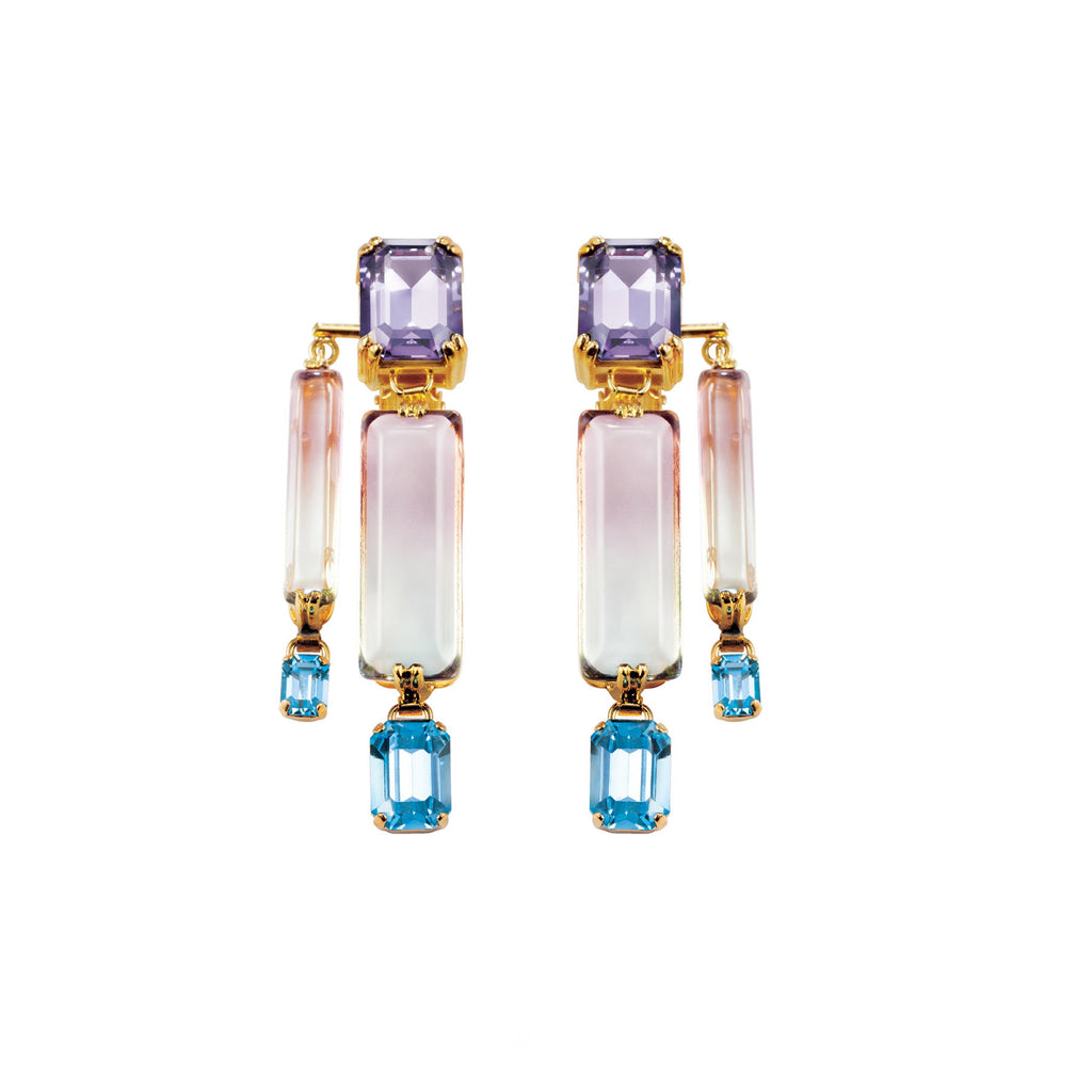 PARADISE COLLECTION <br/> OCEANA DOUBLE EARRINGS