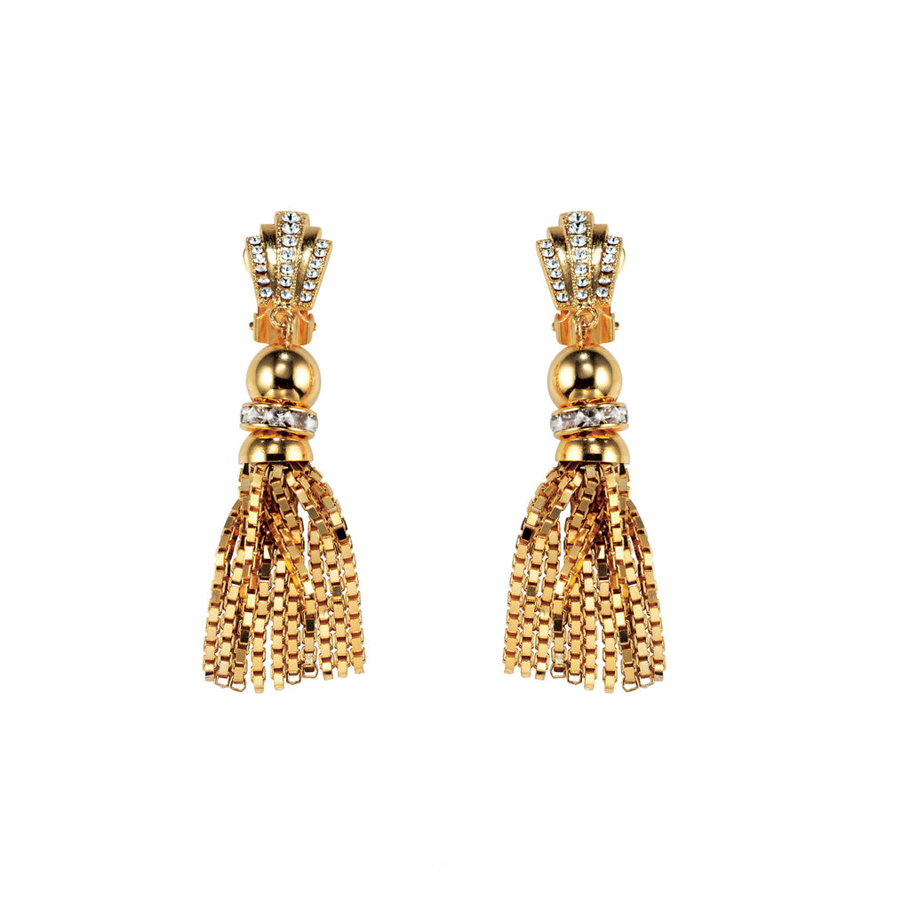 PARADISE COLLECTION <br/> SUNSET SMALL TASSEL EARRINGS