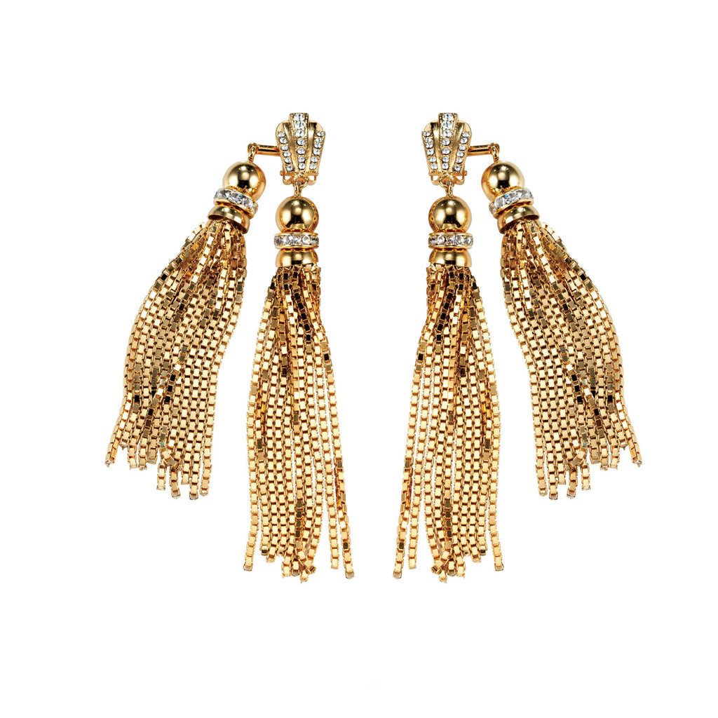 PARADISE COLLECTION <br/> SUNSET DOUBLE TASSEL EARRINGS