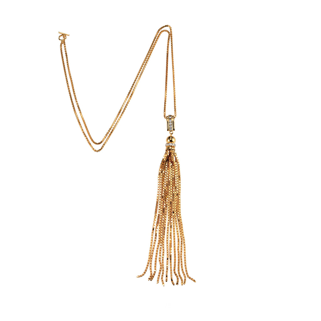 PARADISE COLLECTION <br/> SUNSET TASSEL PENDANT NECKLACE