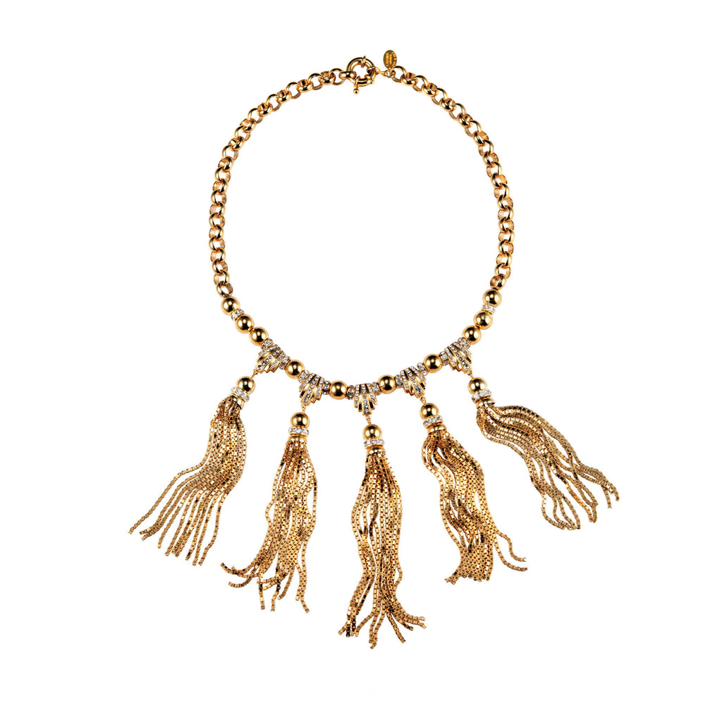 PARADISE COLLECTION <br/> SUNSET TASSEL DROP NECKLACE