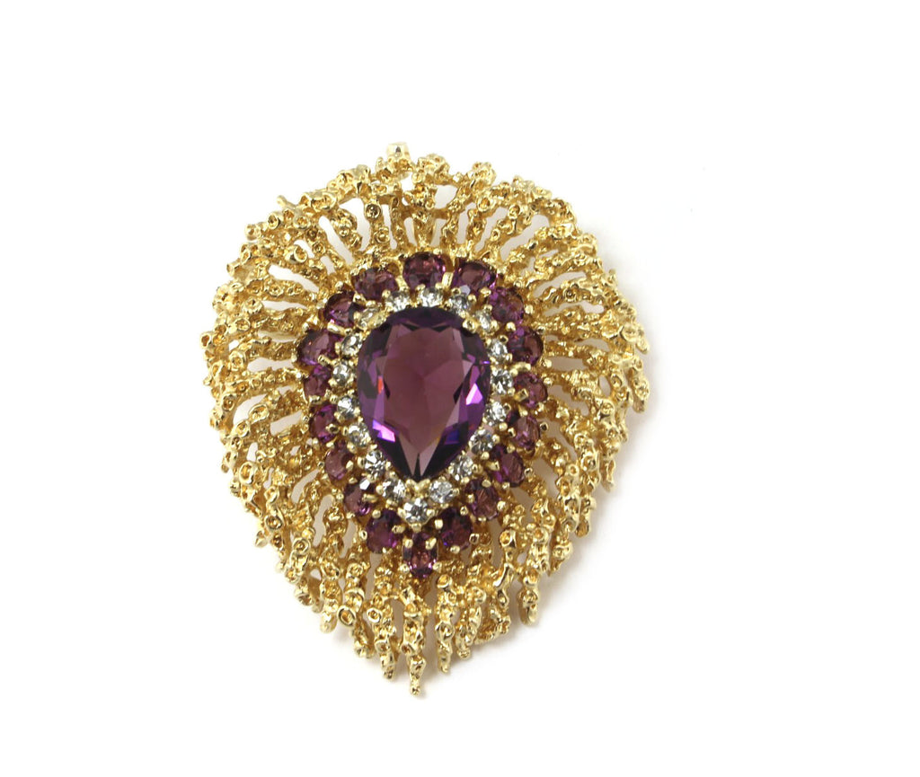 1950'S PANETTA PURPLE PIN