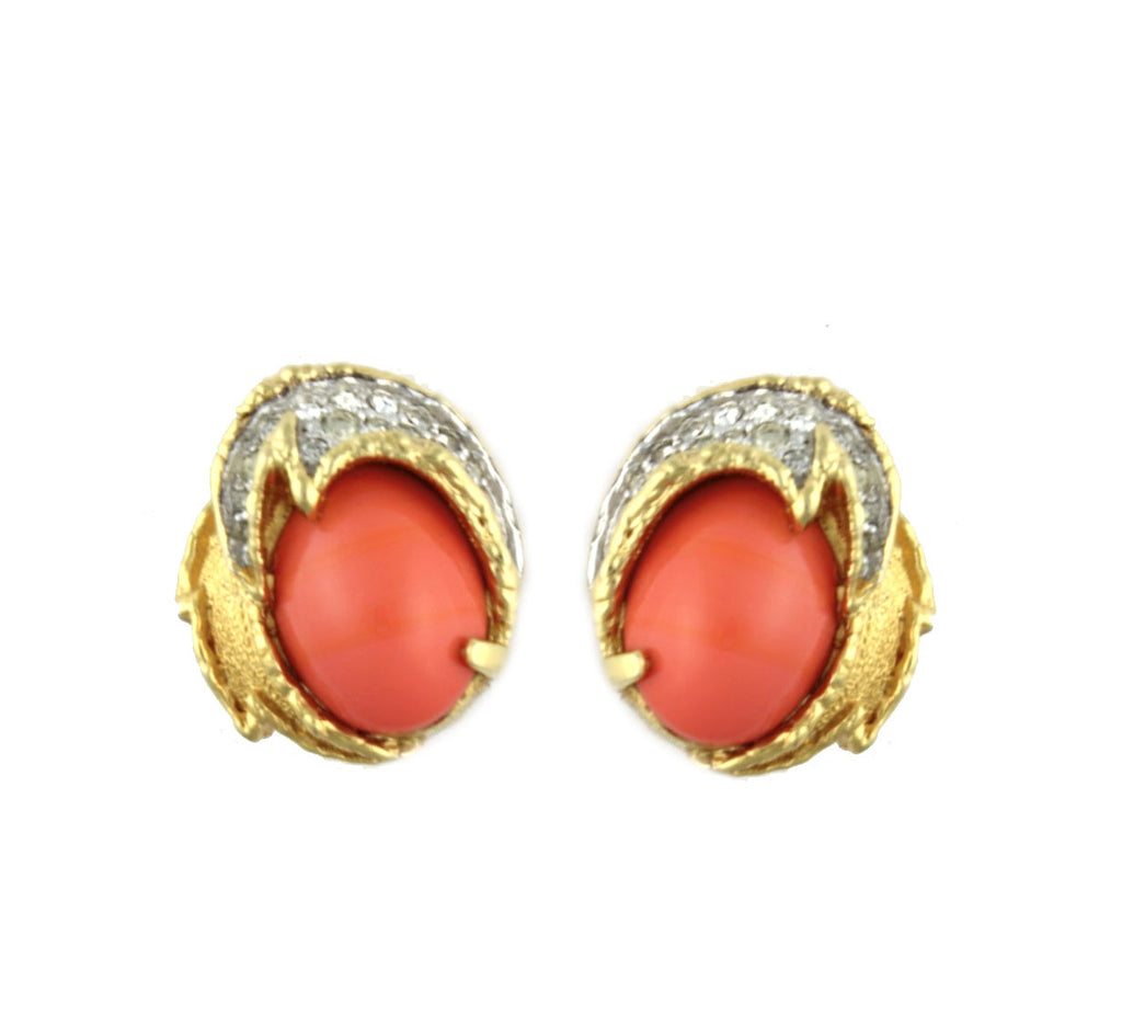 1950'S JOMAZ CORAL EARRINGS