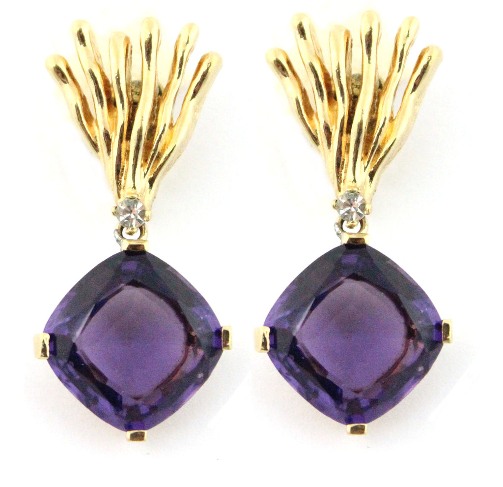 1950'S PANETTA AMETHYST EARRINGS
