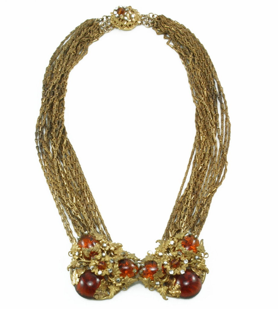 1960'S MIRIAM HASKELL MULTI CHAIN NECKLACE