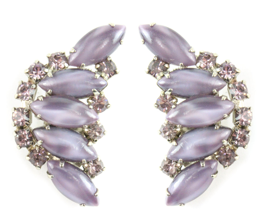 1950'S JULIANA PURPLE EARRINGS