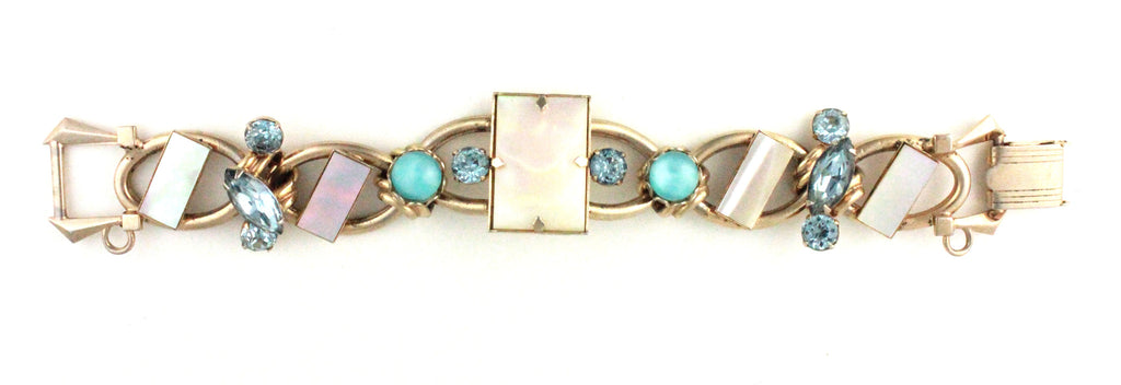 UNSIGNED FAUX MOTHER OF PEARL BRACELET
