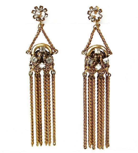MIRIAM HASKELL TASSEL EARRINGS