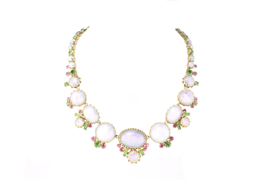 CARNEGIE OPAL GLASS STONE NECKLACE