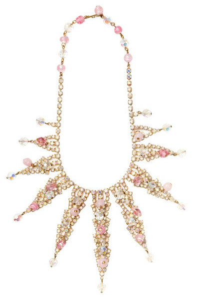 1950's Unsigned Pink Necklace