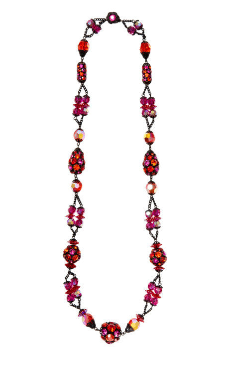 1950's Alice Caviness Fuchsia Necklace