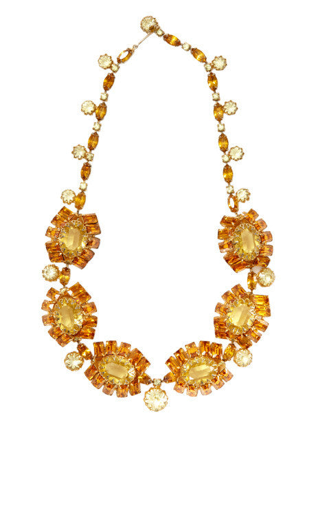 1950s Unsigned Citrine Necklace