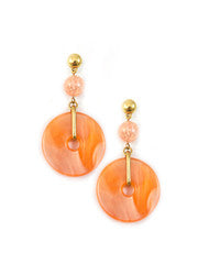 Yves Saint Laurent Peach Earrings
