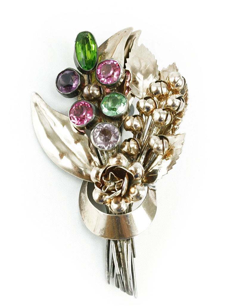 1940'S HOBE BOUQUET BROOCH