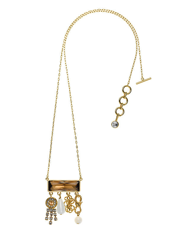 THE ORIENT EXPRESS  COLLECTION<br/>TALISMAN BROWN CHARM NECKLACE