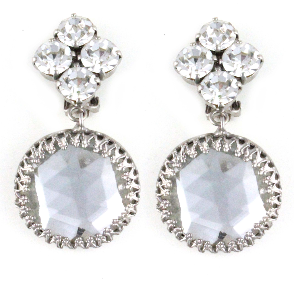 1950'S SCHREINER DIAMANTE EARRINGS