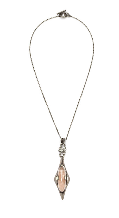 THE ANNÉES FOLLES COLLECTION <br/> JOSEPHINE SMOKY QUARTZ SHORT NECKLACE