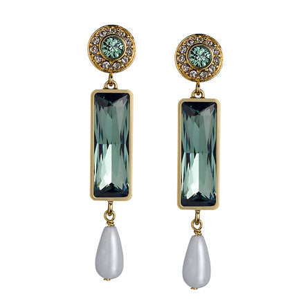 THE ORIENT EXPRESS COLLECTION<br/>TALISMAN GREEN EARRINGS