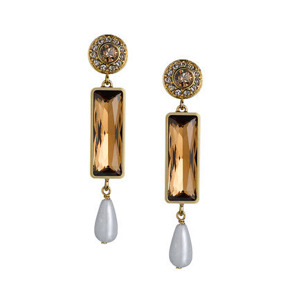 THE ORIENT EXPRESS  COLLECTION<br/>TALISMAN BROWN EARRINGS