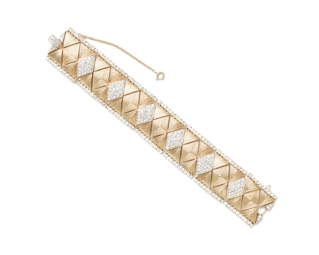 Trifari Gold & Diamante Bracelet
